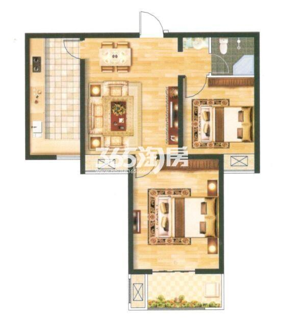 12B 建筑面积约88.47㎡ 两室两厅一卫