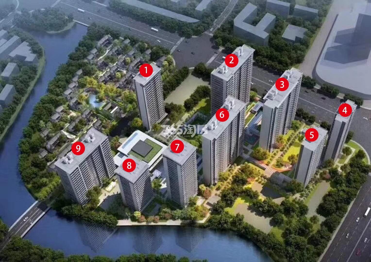 中国铁建·花语江南鸟瞰图