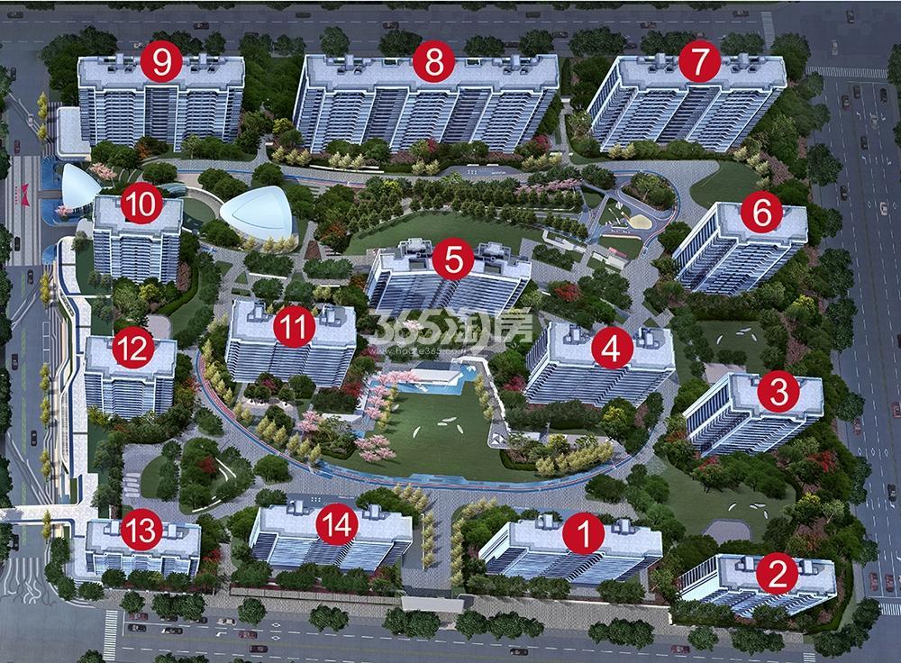 阳光城未来悦项目鸟瞰图