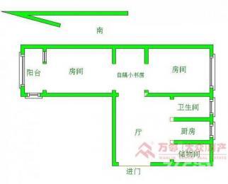 水曲巷清爽装修2房 锡师附小学区房 学区可用 可迁户口