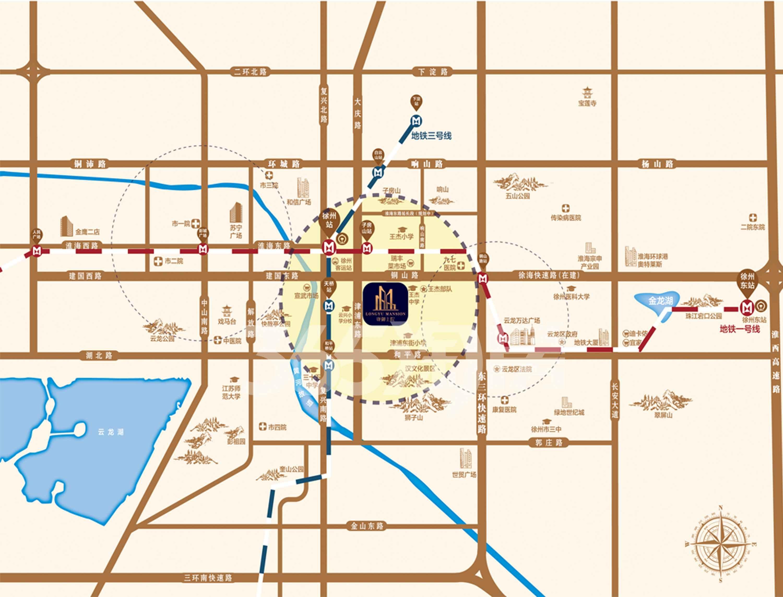 珑郡上院交通图