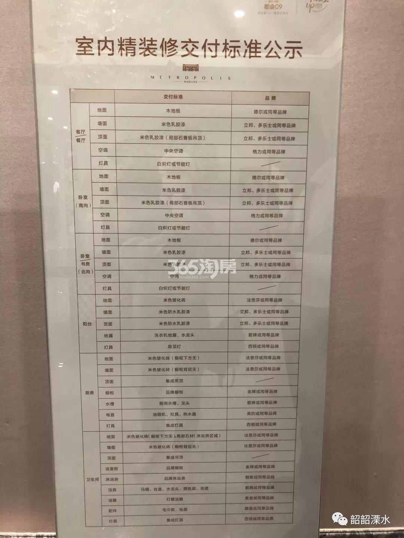 禹洲中粮都会09项目交付标准公示(9.30)