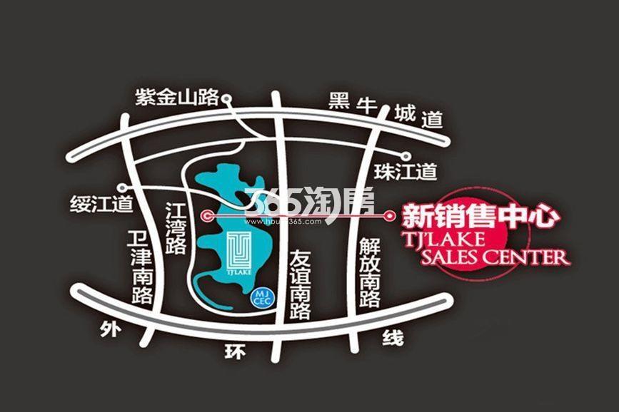 富力津门湖二期交通图