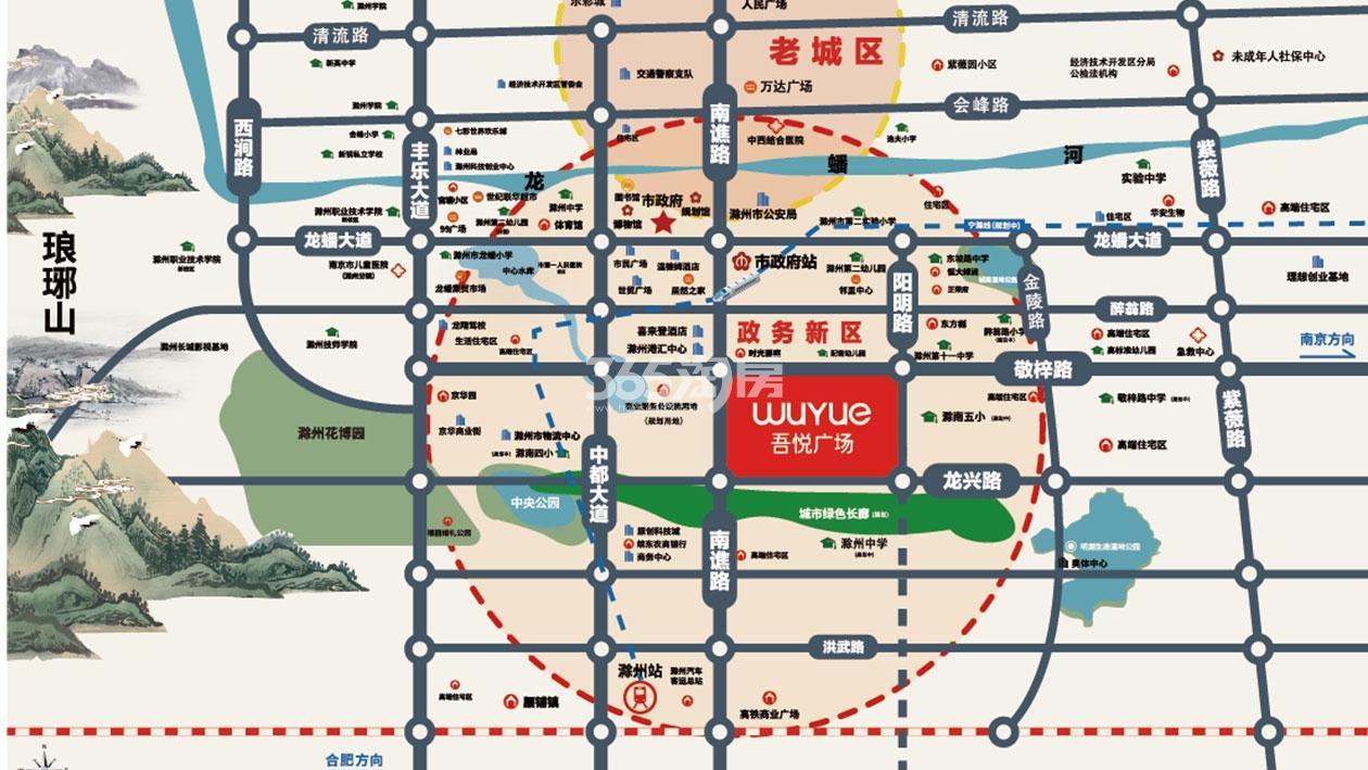 滁州吾悦广场交通图