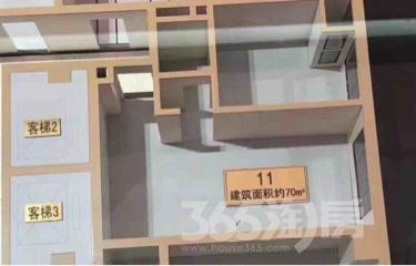相城区绿地都会商业中心2室1厅1卫69.58�O
