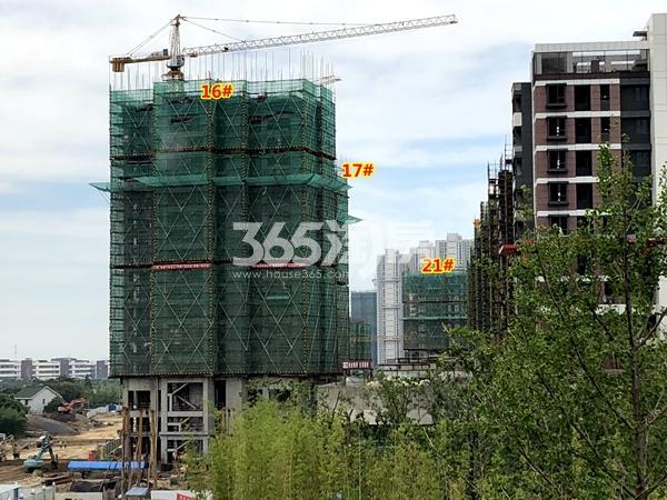 绿地天空树16#、17#、21#楼工程进度实景(2018.7摄)