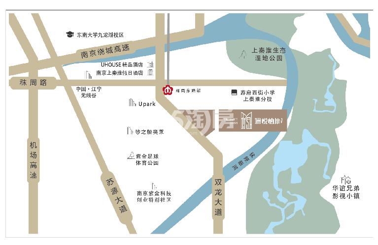 五矿澜悦栖原交通图