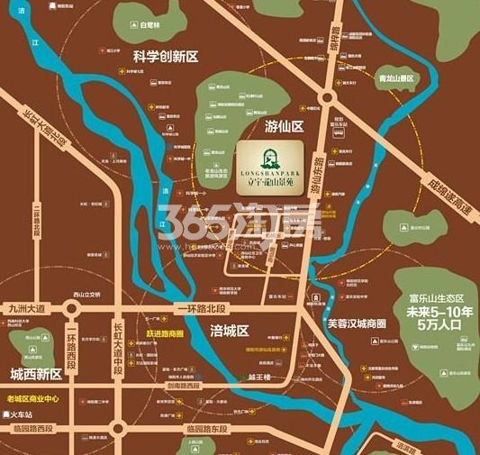 立宇龙山景苑交通图