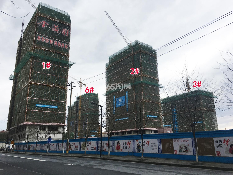 2018年2月28日首开杭州金茂府高层1-3、6号楼实景
