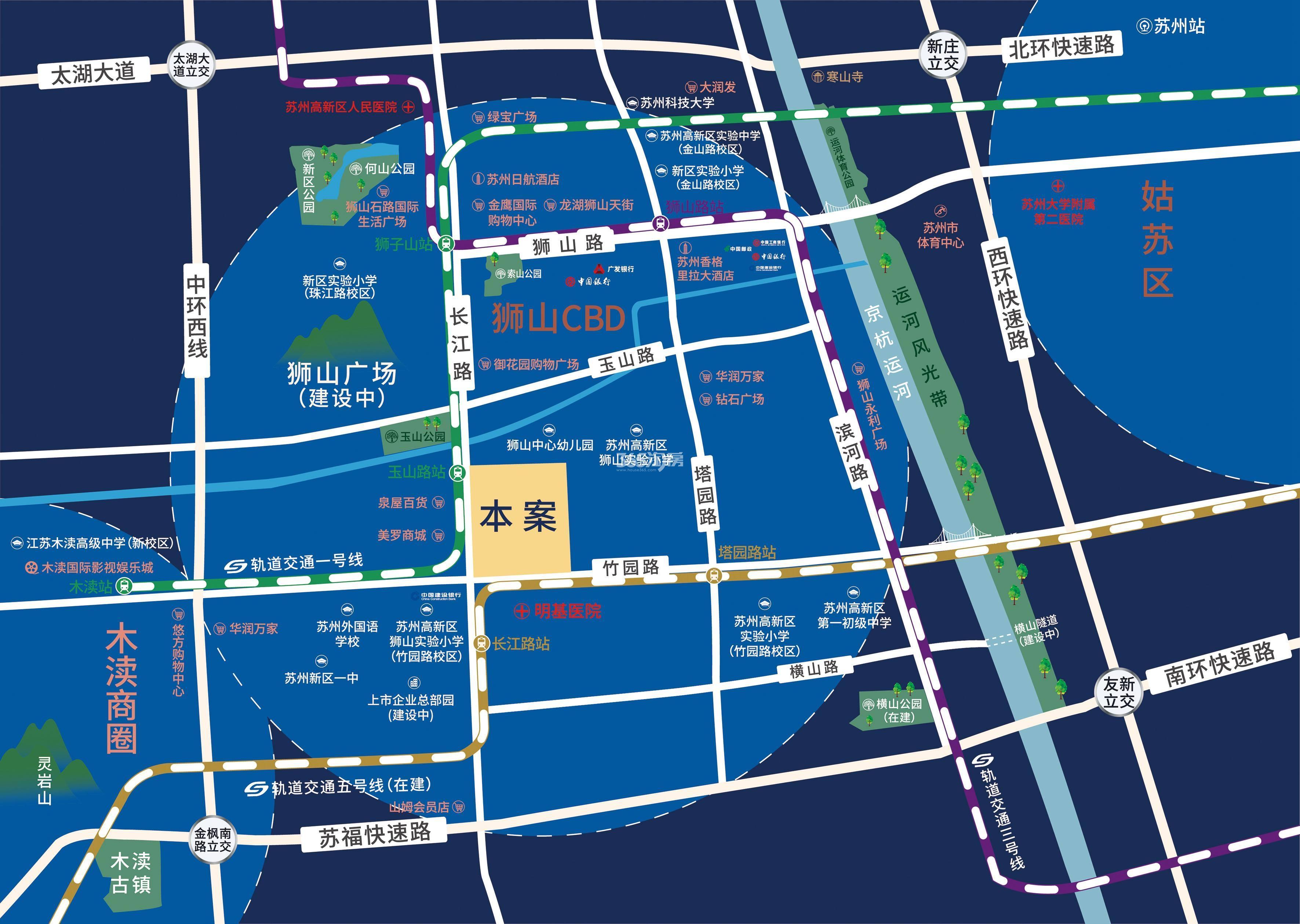 春和景明雅园交通图