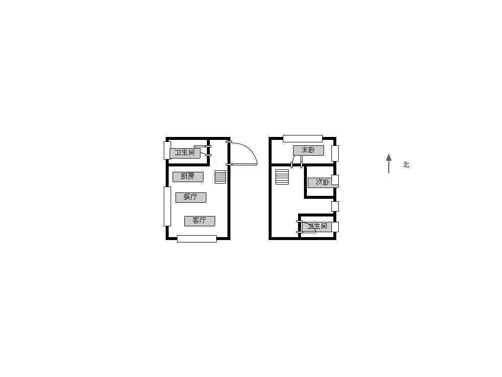 建邺区奥体宏普捷座2室2厅户型图