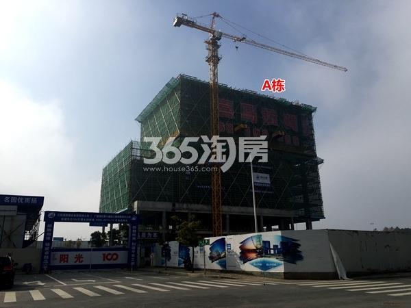 阳光100喜马拉雅A栋公寓工程进度实景(2018.2摄)