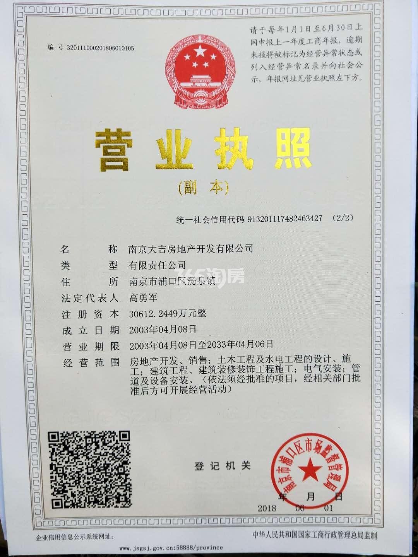 大吉公元销售证照