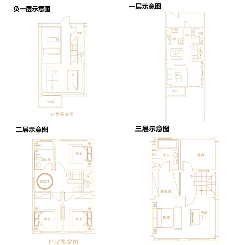 孔雀城时代北宸星镜低密户型120㎡户型图