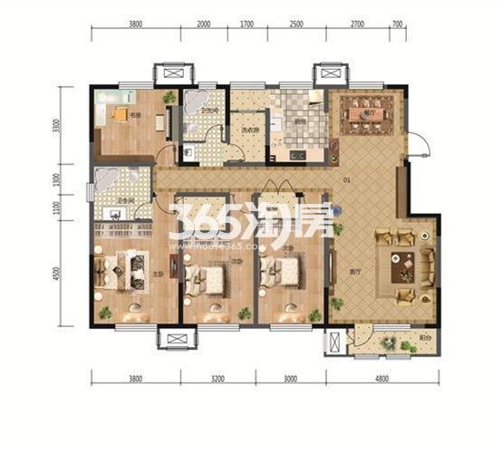 4室2厅1厨2卫 172.41平米