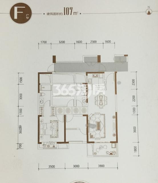 大江东宝龙广场F户型107方