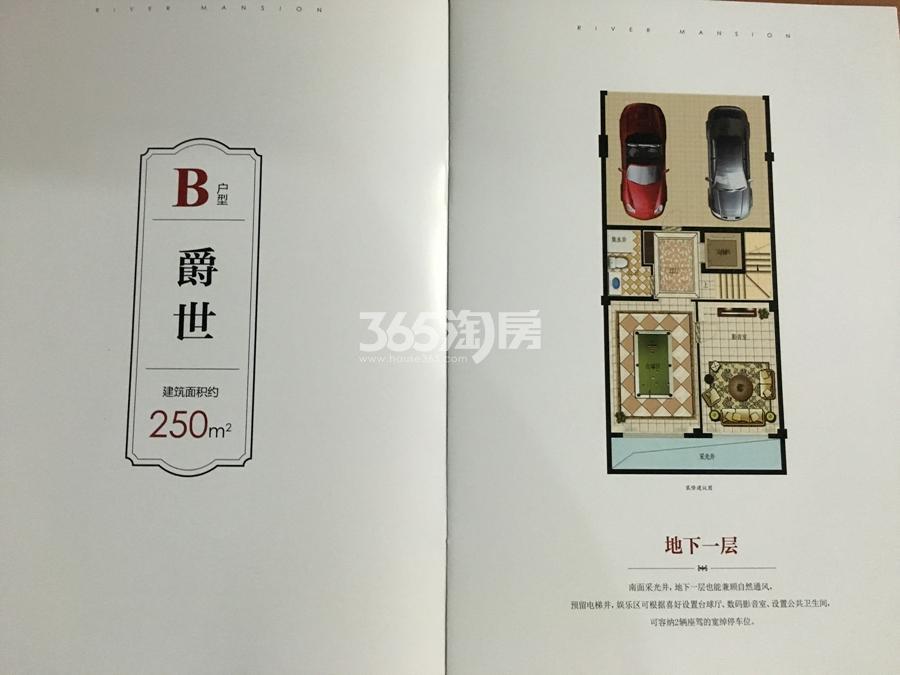 滨江春盛大江名筑C户型排屋250方(地下一层)