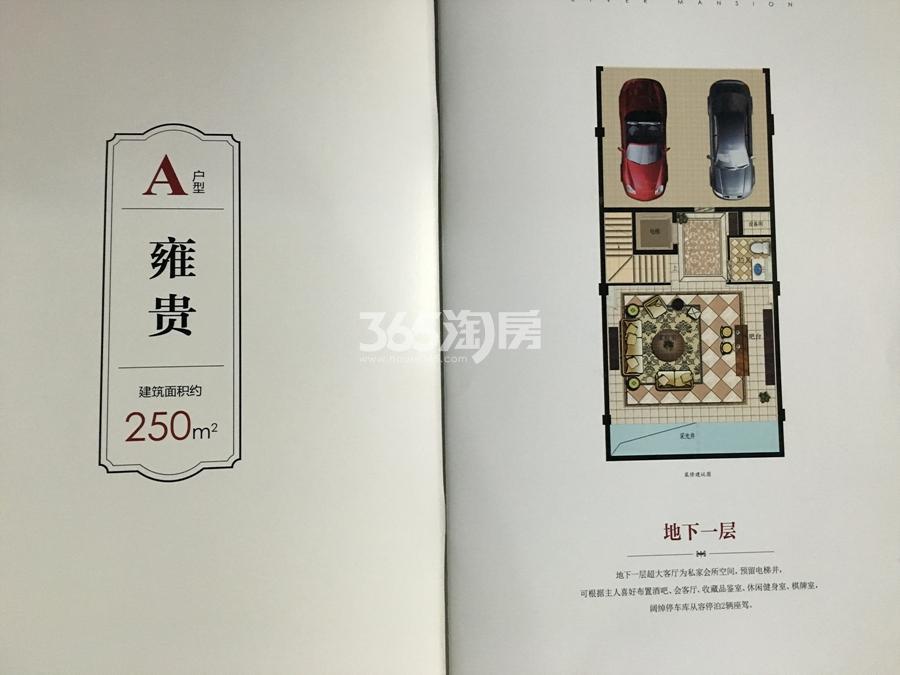 滨江春盛大江名筑A户型排屋250方(地下一层)
