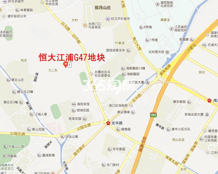 恒大江浦G47地块交通图