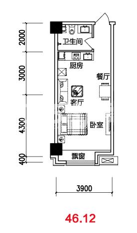中海寰宇天下公寓户型图