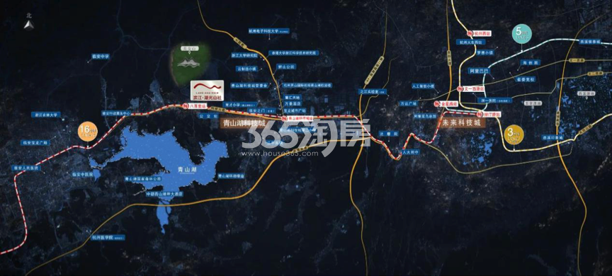 滨江湖光山社交通图