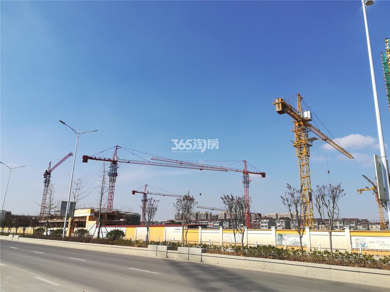 蓝天慧融花园工程进展(3.19)