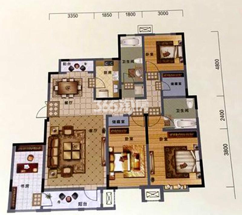 户型图 D户型 147.00平米 五室