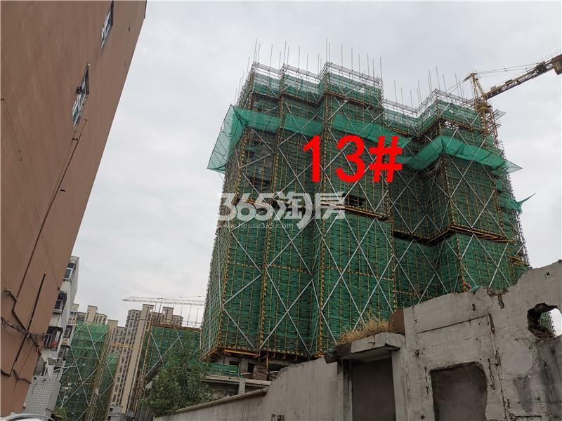 绿地理想城悦湖公馆在建13#楼实景图(10.16)