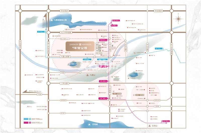 泽信公馆交通图