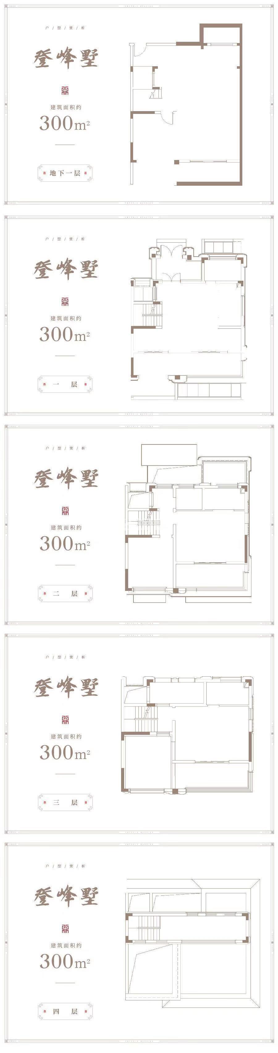 龙湖丽丰西宸原著别墅300㎡户型图