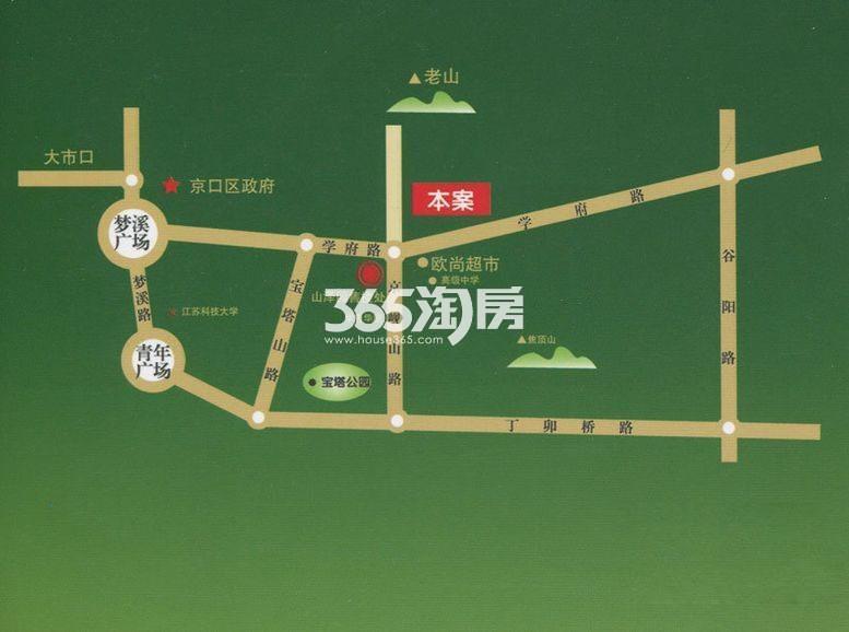 山泽园交通图