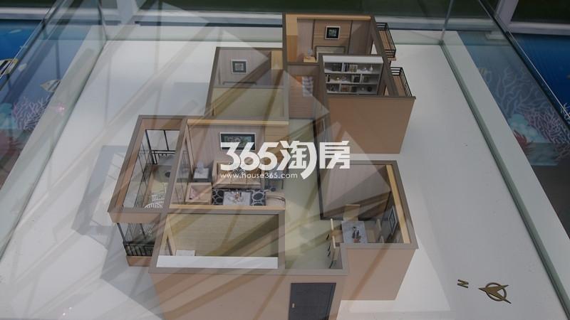 1#A户型 三室两厅一厨一卫 建筑面积89.80㎡