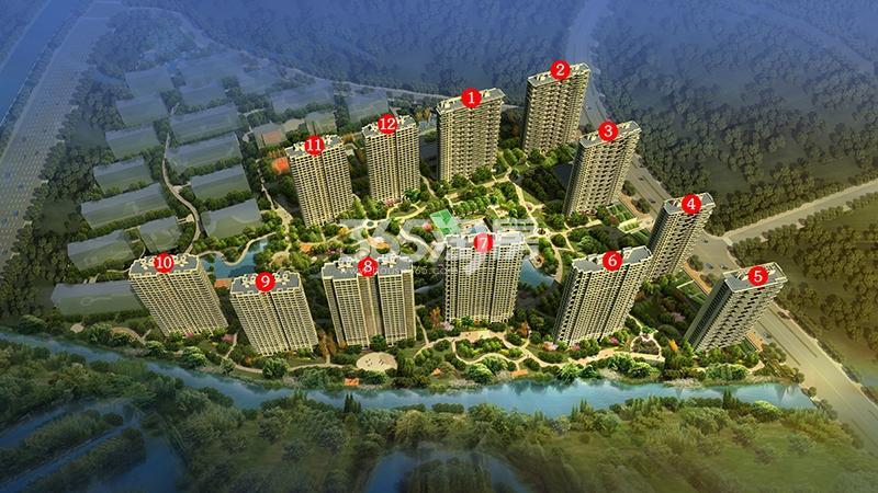 新中国际二期鸟瞰图