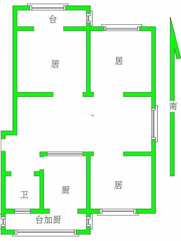 纯真里3室1厅1卫105.3平米中装产权房1996年建满五年