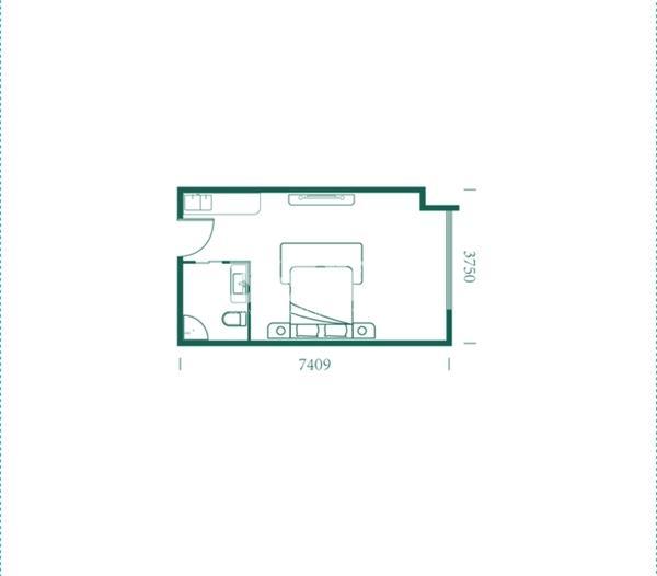 海德堡·青年特快项目户型图(建面约37.93㎡)1#楼 L户型