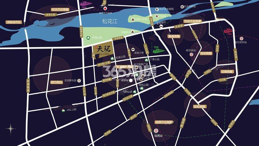 保利天珺交通图