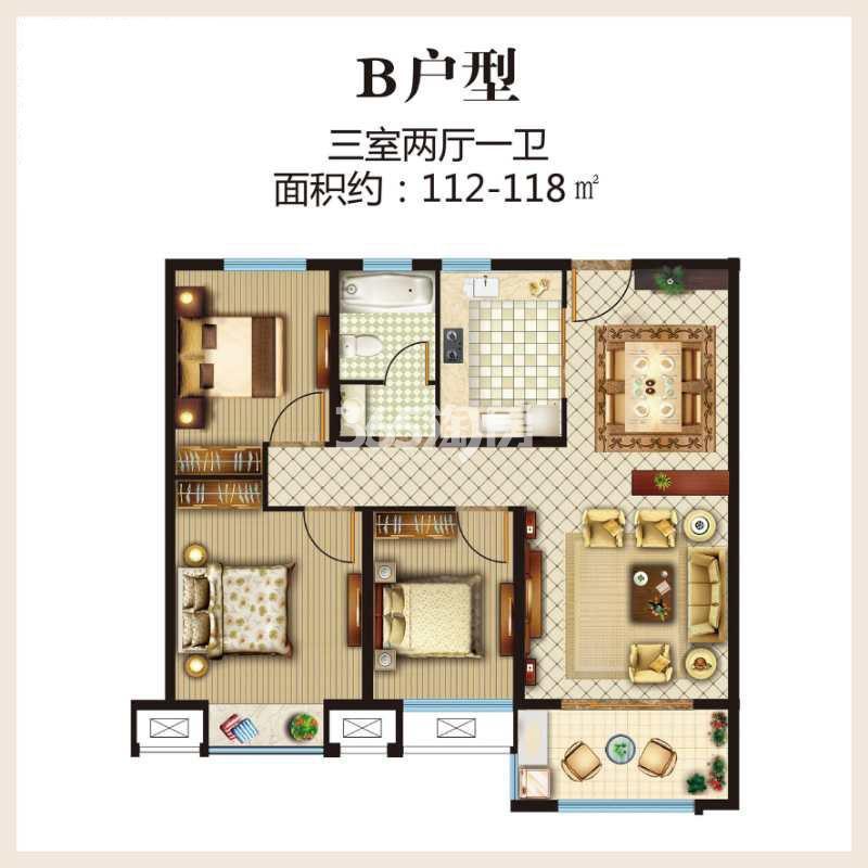 第一国际四期颐园高层112-118平户型图