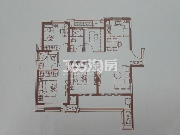 D户型125㎡四室