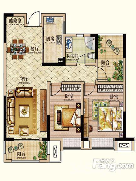 安粮城市广场3室2厅1卫毛坯空户一手房