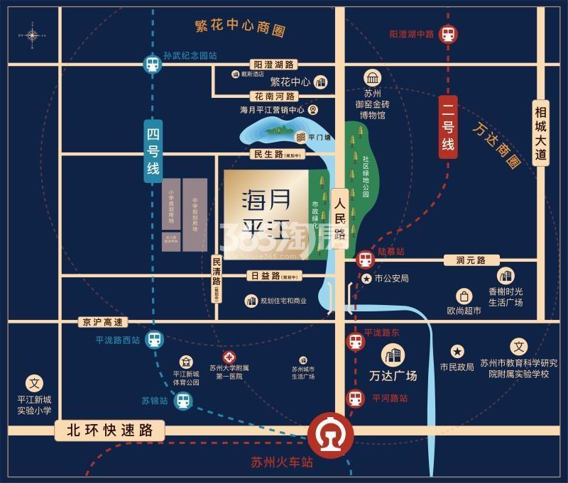 融信海月平江交通图