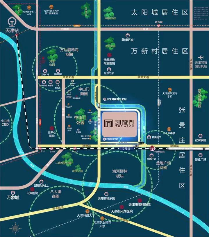天津凯旋门交通图