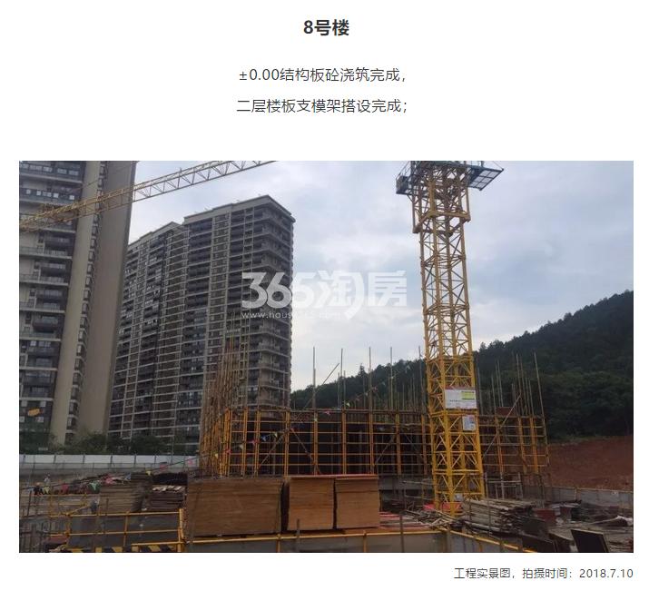 阳光城翡丽海岸8#施工进度实景图 2018年7月摄
