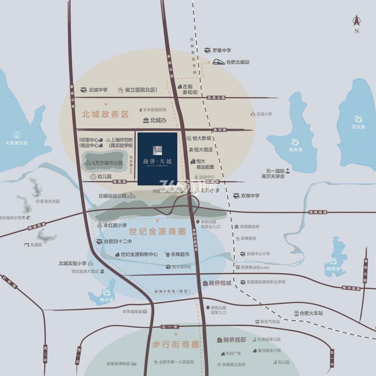 融侨天越交通图