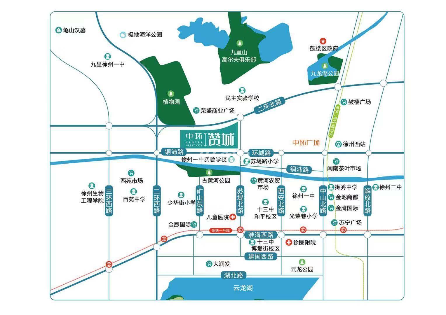 中环赞城交通图
