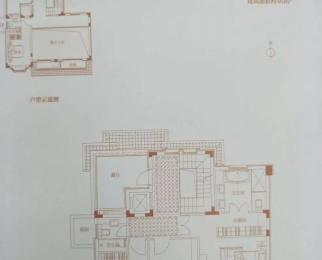 北城别墅区 半岛一号 毛坯房 地面三层 赠送车库和100多平院子