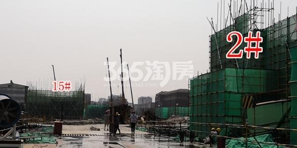 绿地理想城悦湖公馆低密度多层2、15#楼均建至2层以上(6.5)
