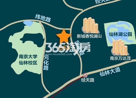 融信仙林湖G58地块交通图