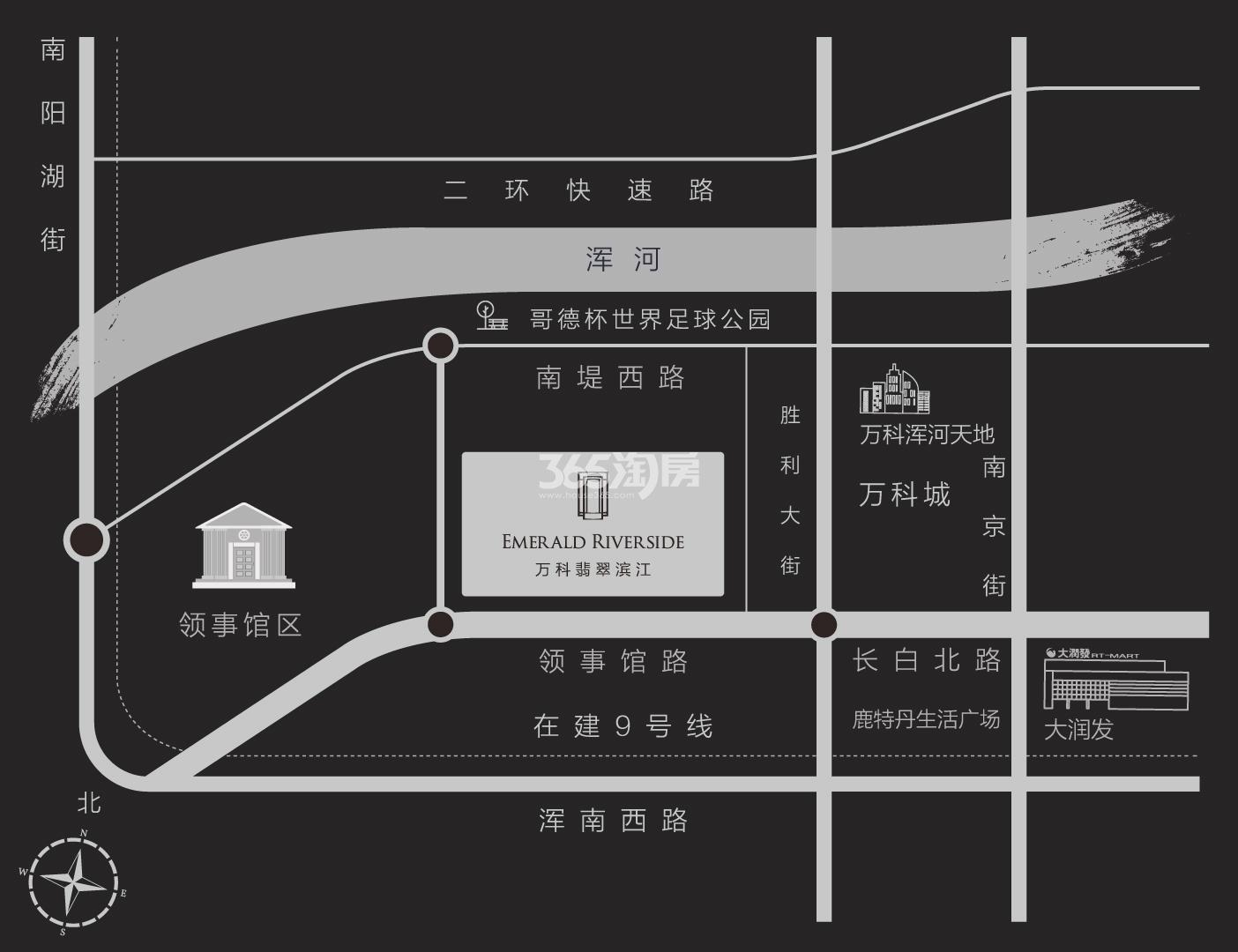 万科翡翠滨江交通图