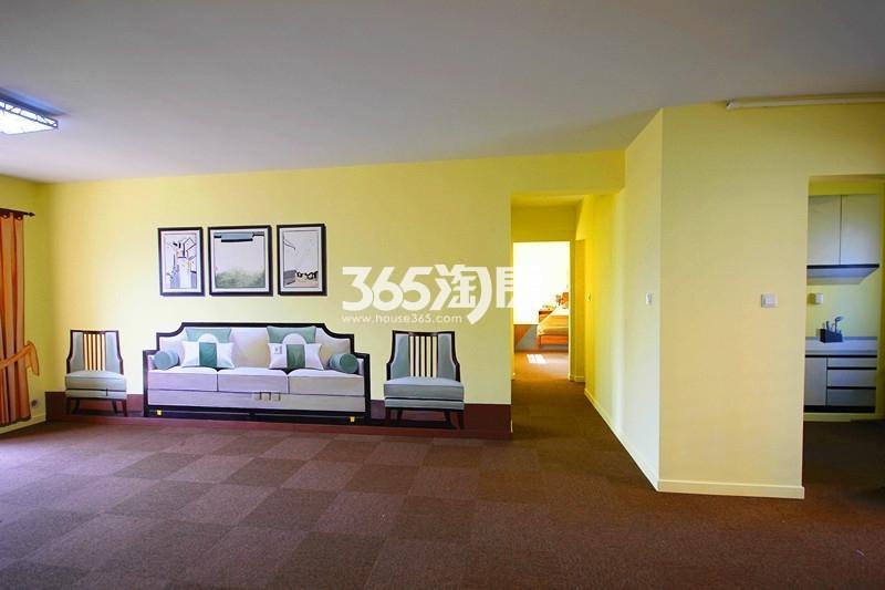 雅居乐国际花园B1户型125方样板房——客厅全景