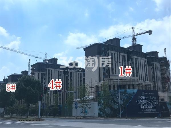 中隆广场・润��府小高层1#、4#、5#楼实景图(2017.10 摄)